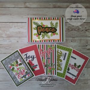 Peace and Joy note cards & box