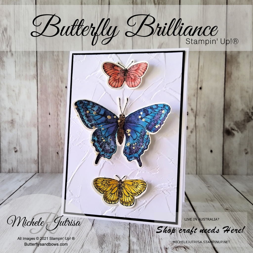 Butterfly Brilliance Bundle by Stampin' Up!. Watercoloured on Fluid 100 Watercolour Paper