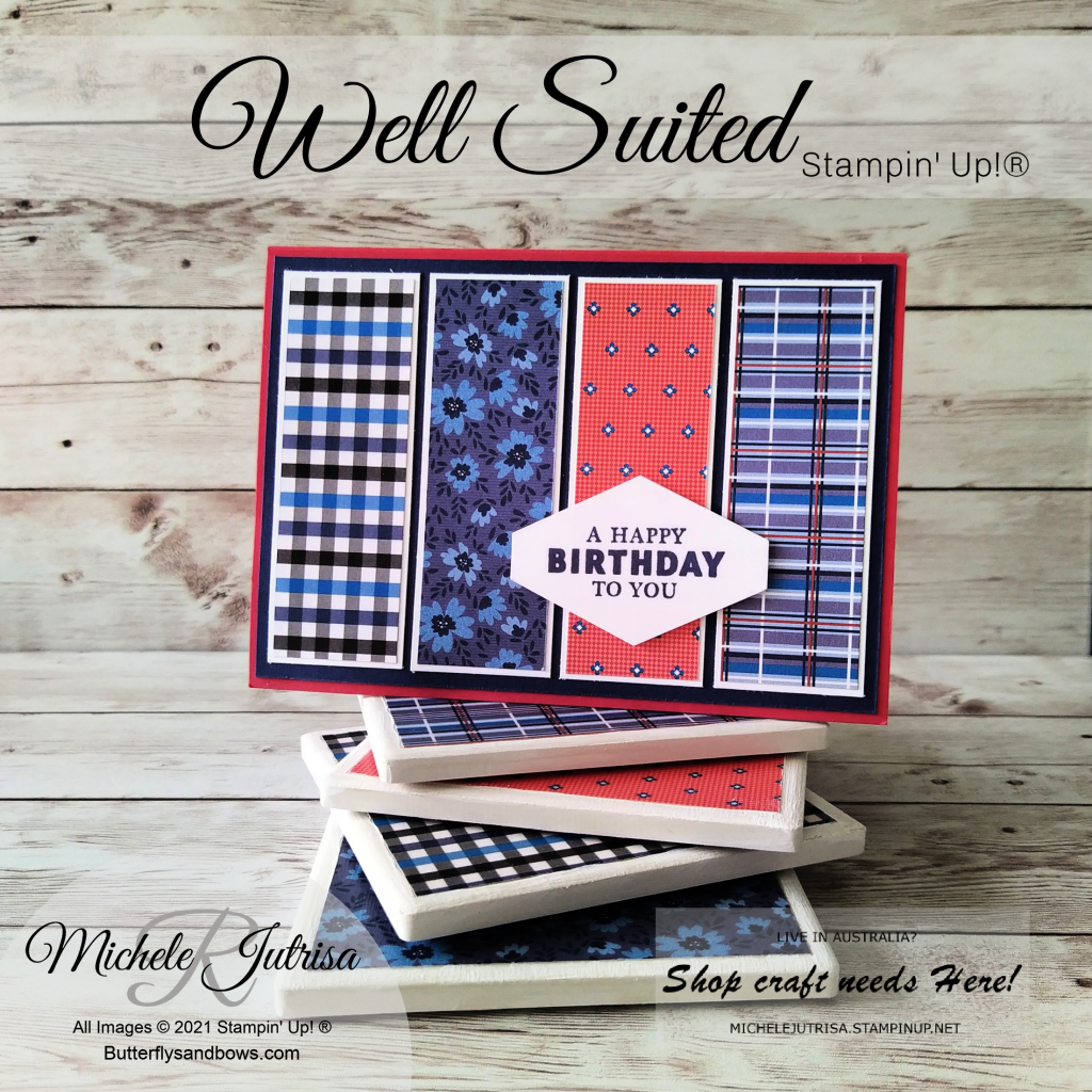 Well Suited Designer Series paper by Stampin' Up!