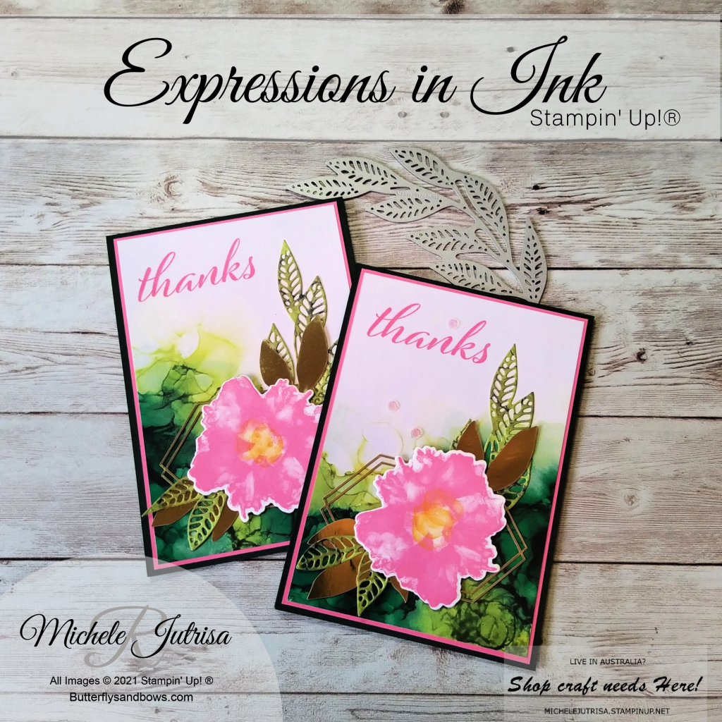 Expressions in Ink Collection by Stampin' Up!. Card made in my Facebook Live.