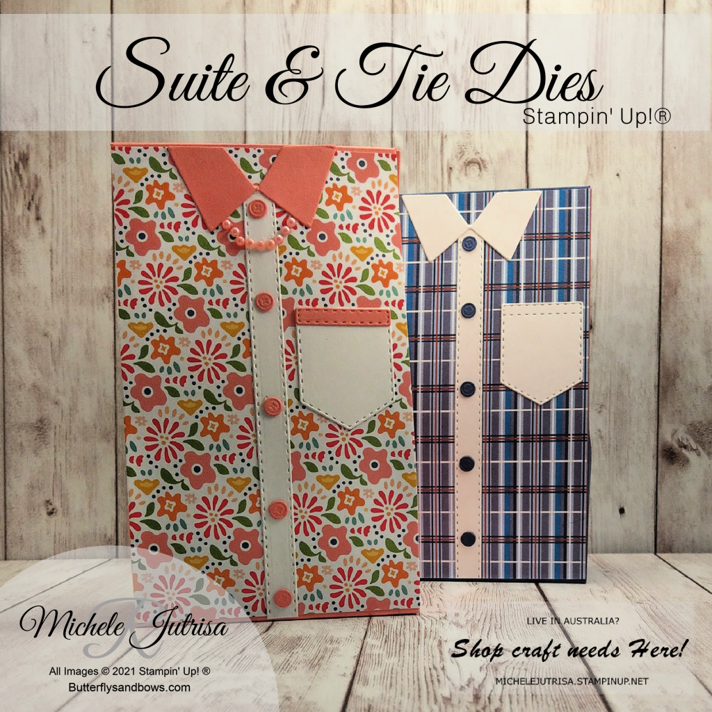 Stampin' Up! Suit & Tie Dies to decorate gift boxes