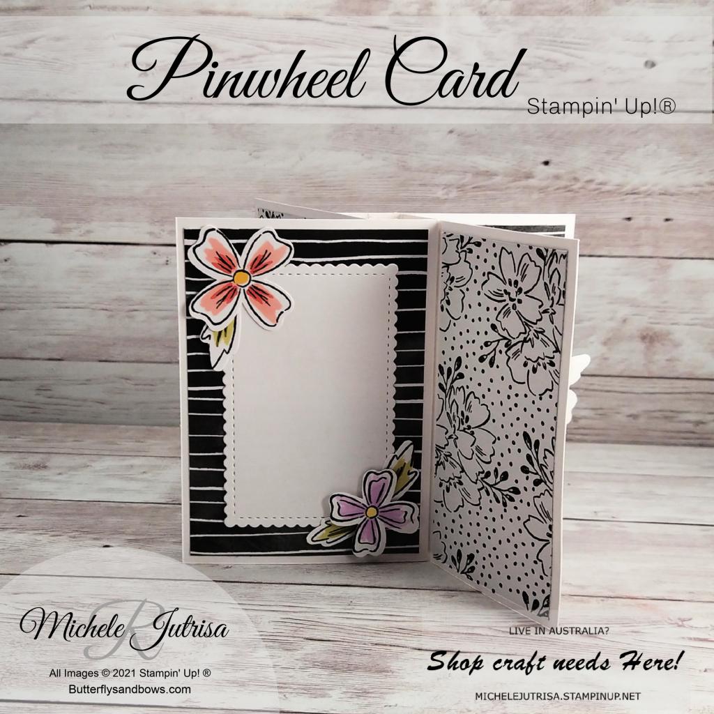 Pinwheel card using Stampin' Up! products