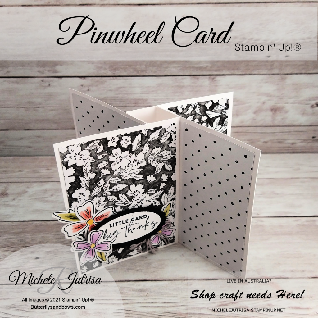 Pinwheel card using Products by Stampin' Up!