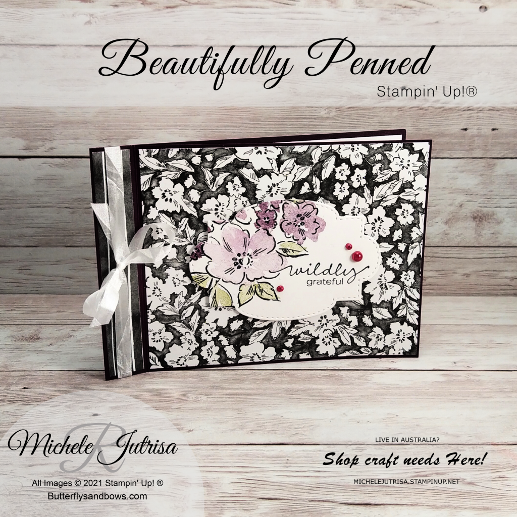Beautifully Penned Designer Series Paper by Stampin' Up! Aug- Sept SAB Catalogue...Spend $90 and get this DSP for FREE