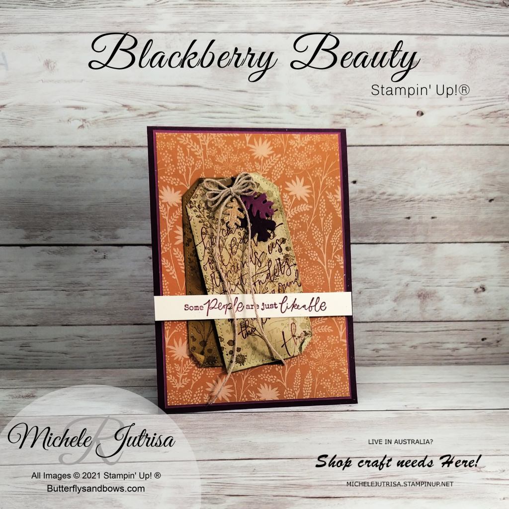 Blackberry Beauty Suite by Stampin' Up! and from the July-December 2021 Mini Calaogue