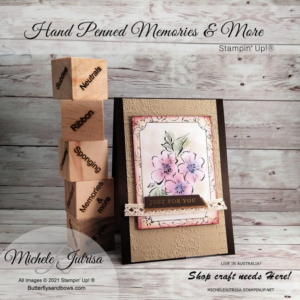 Hand Penned Memories and More Cards by Stampin' Up1